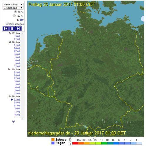 Niederschlagsradar Prognose - Wetter