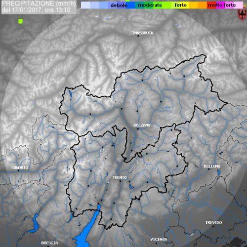 Niederschlagsradar Suedtirol - Wetter