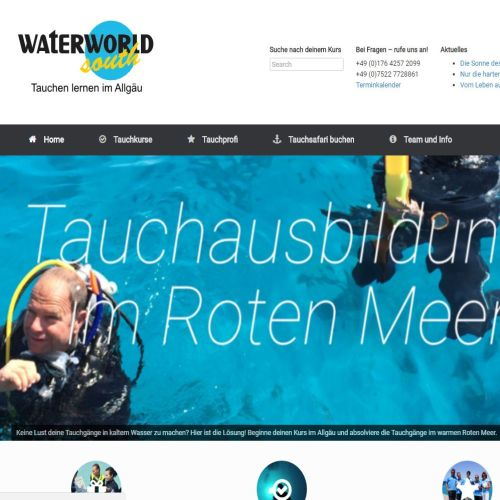 Waterworld Tauchschule - Partner