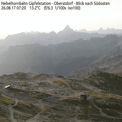 Webcam Nebelhorn - Wetter