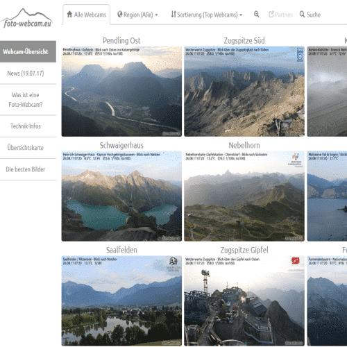 Webcams Alpen - Wetter