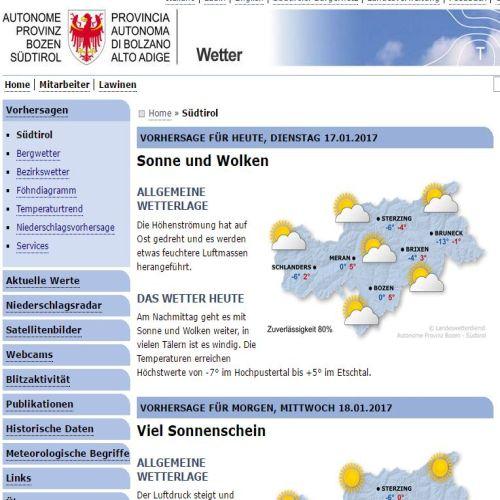 Wetterbericht Bozen - Wetter