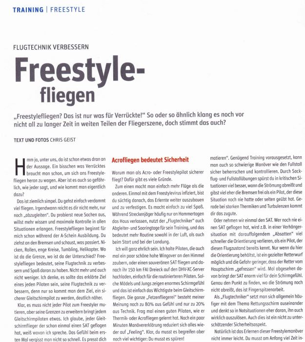 freestylefliegen - Publikationen
