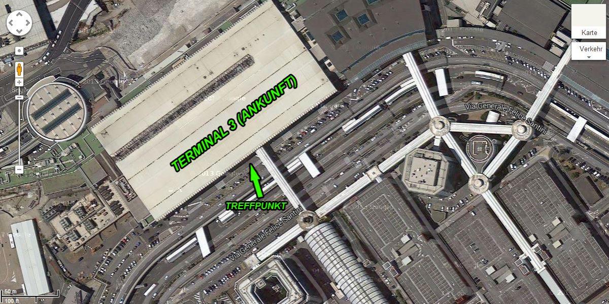 romairport treffpunktterminal3ausgang - Gleitschirmreise Castelluccio