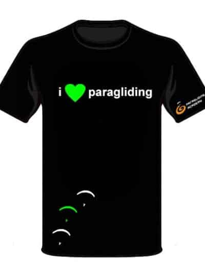 "T Shirt i love paragliding front 400x533 - T-Shirt ""i love paragliding"""