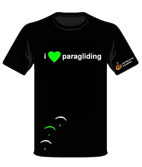 "T Shirt i love paragliding front - T-Shirt ""i love paragliding"""