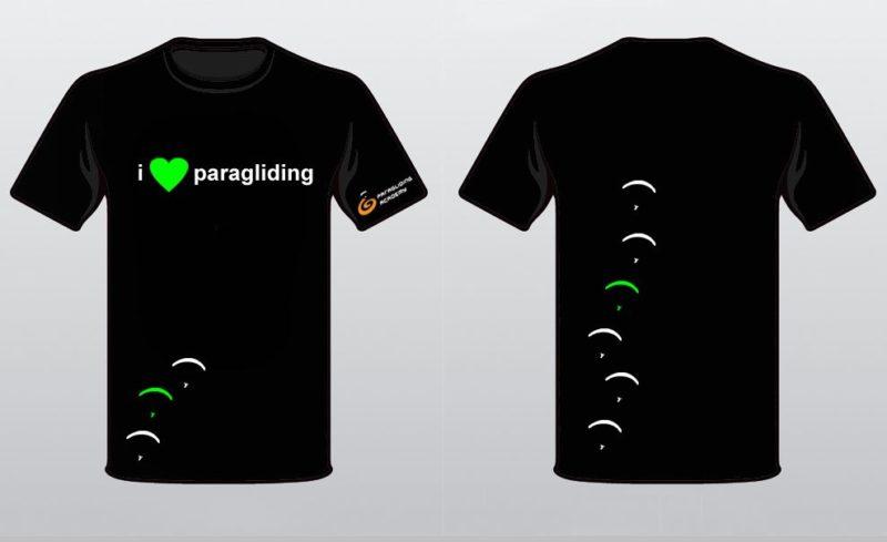 """t shirts2014 800x489 - T-Shirt """"i love paragliding"""""""