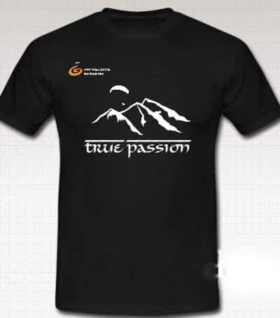 "T Shirt 2012 True Passion2 400x454 - Gleitschirm T-Shirt ""true passion"""