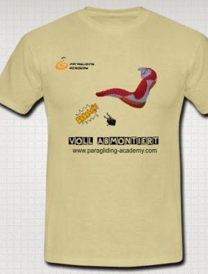 """Voll abmontiert T Shirt 300x395 - Gleitschirm T-Shirt """"Voll abmontiert"""""""