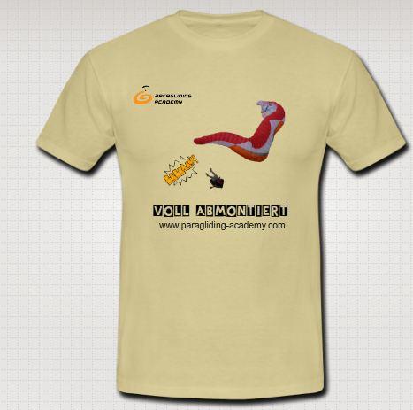 """Voll abmontiert T Shirt - Gleitschirm T-Shirt """"Voll abmontiert"""""""