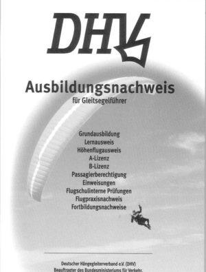 dhvausbildungsnachweisgleitschirm 300x395 - DHV Ausbildungsheft