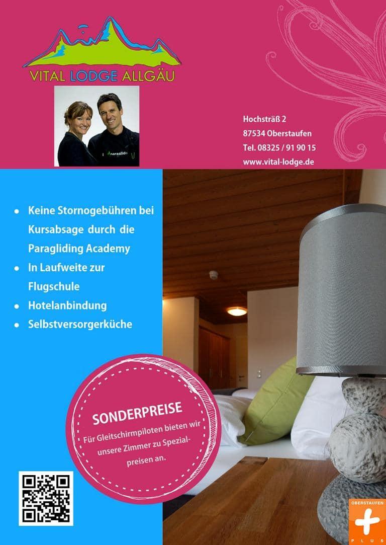 Anzeige Vital Lodge OberstaufenPlus - Unterkünfte
