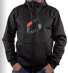 OzoneHoodyBlack biglogo - Ozone Hoody black L Zipper