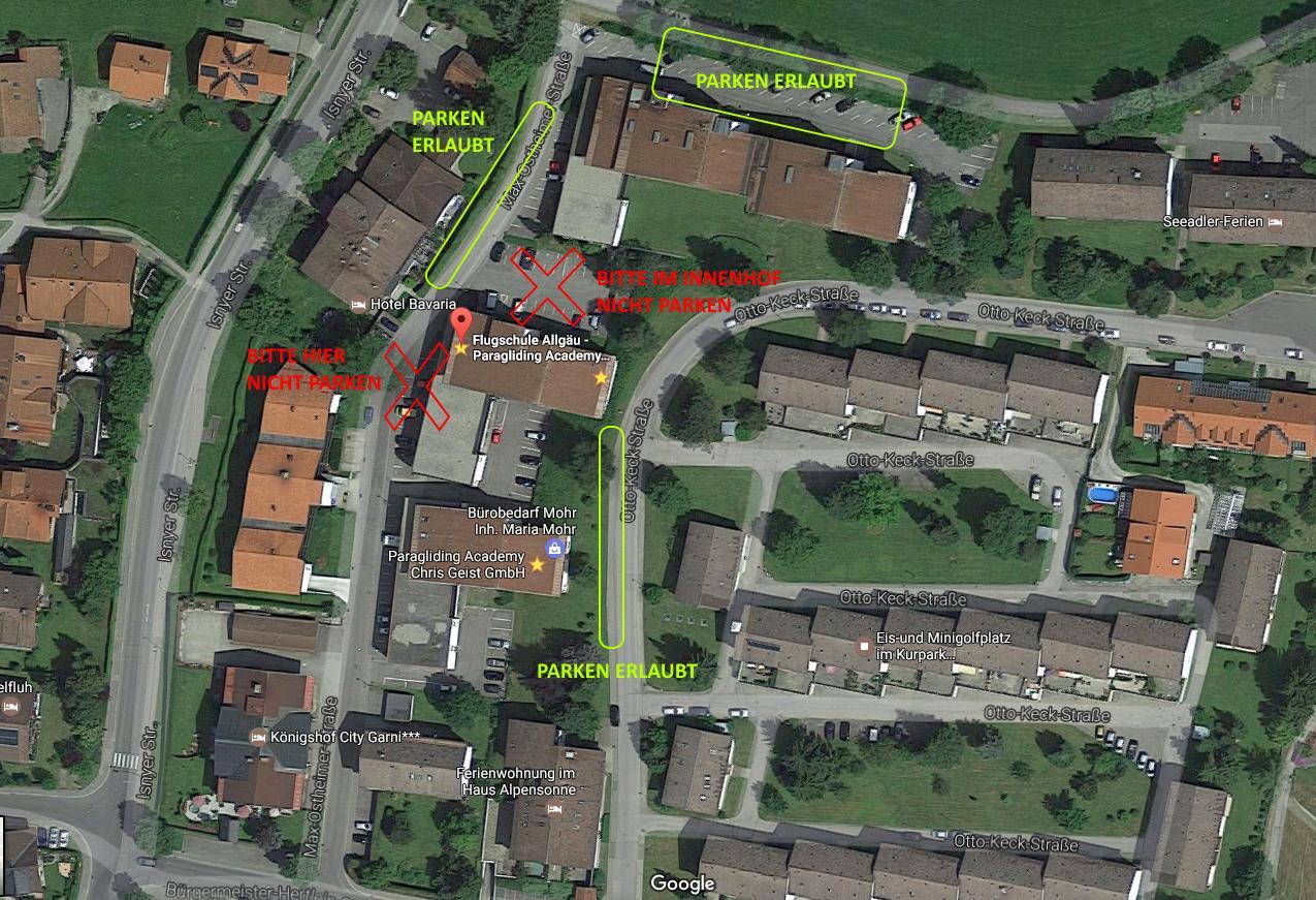 parkmöglichkeiten flugschule - Höhenschulung (HÖHE)