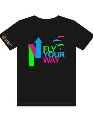 "t shirtschwarz mitprint arrow 300x395 - T-Shirt ""Arrow"""