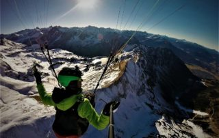 Gleitschirmfliegen Winter Nebelhorn 320x202 - Schnee, Schnee, Schnee.... fliegen im Winter - Was ist anders als im Sommer?