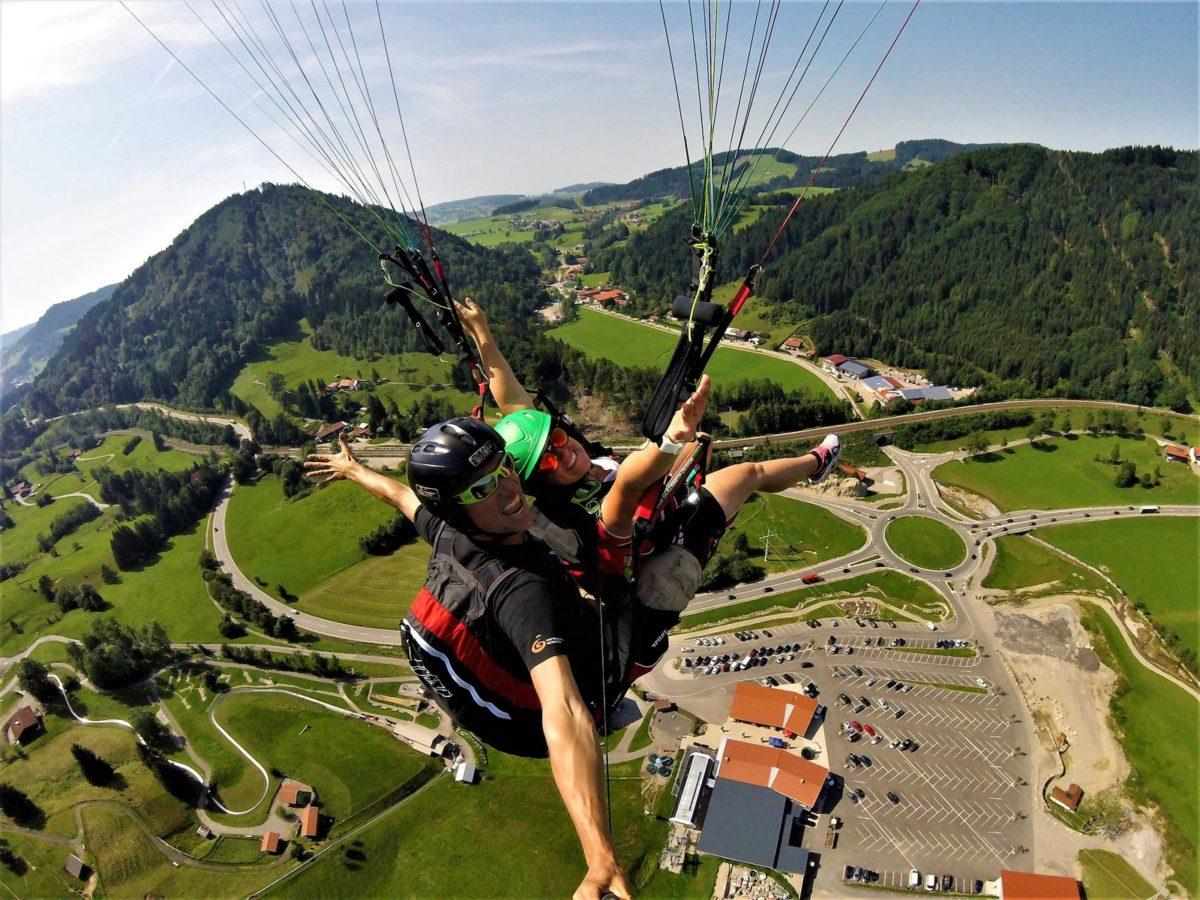 Tandemflug Hündle - Fluggebiet Hündle/ Oberstaufen