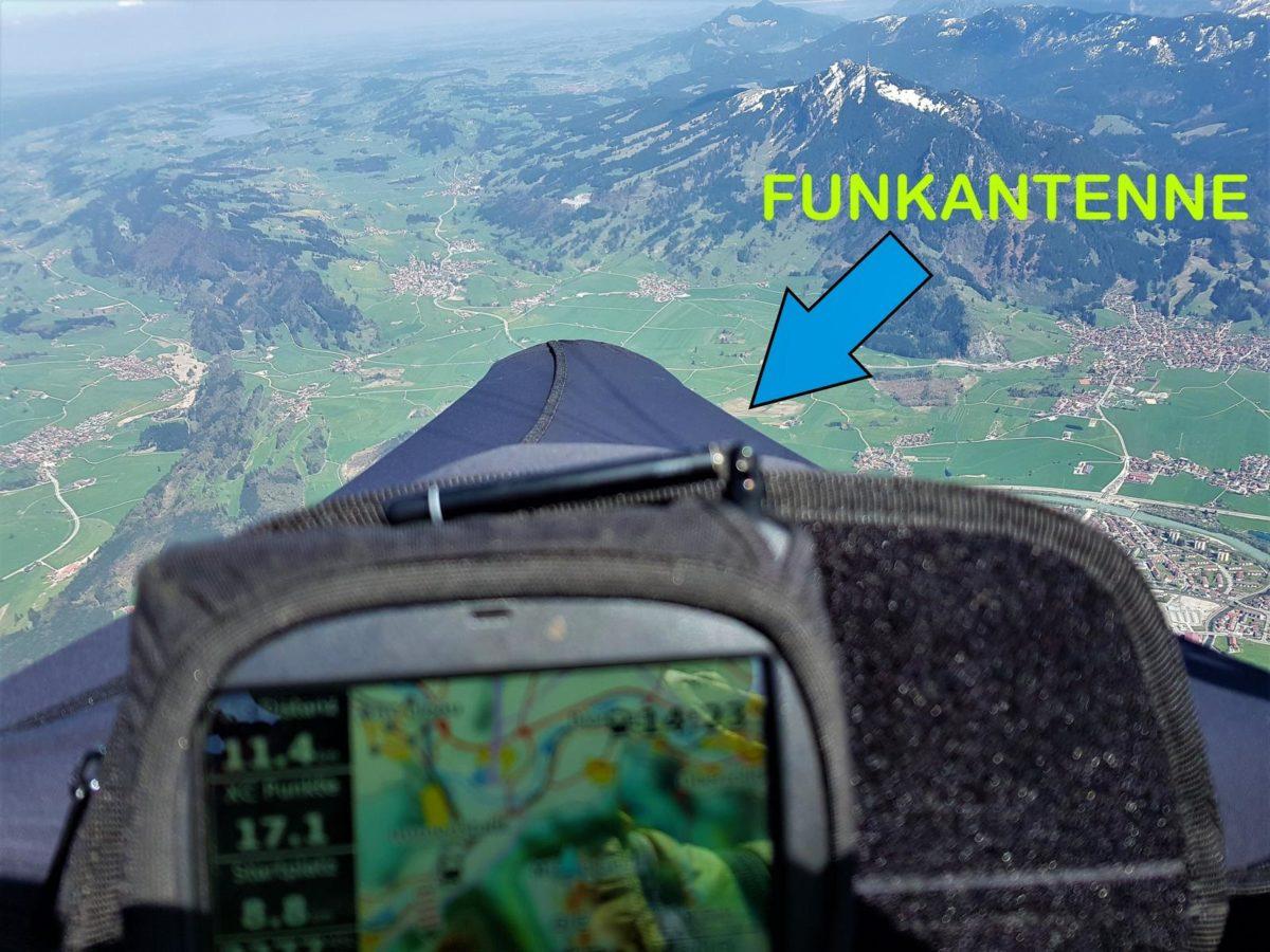 Geräte mit FANET erkennt man an der Funkantenne