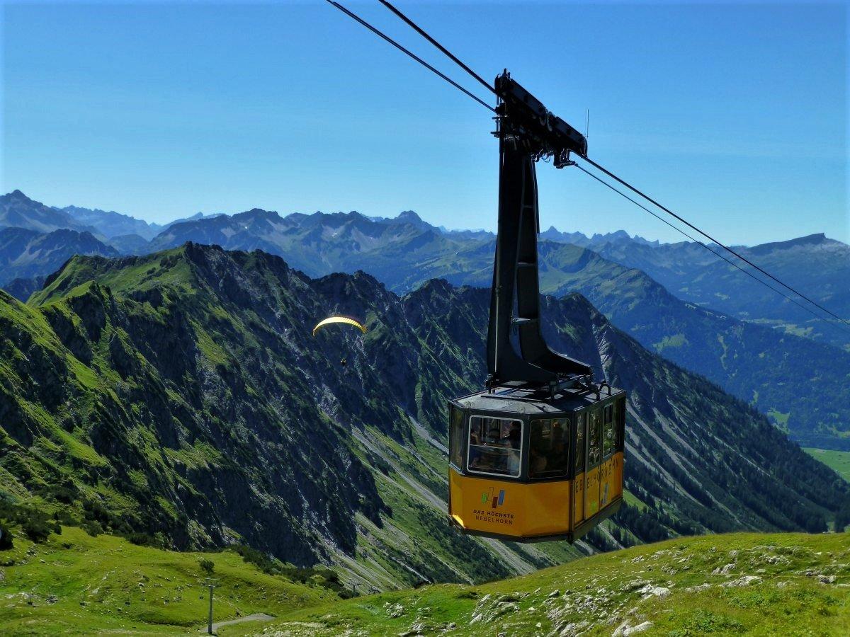 Nebelhornbahn - Flugberge und Preise