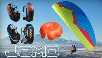 HIKE&FLY SET 1 - LEICHTSCHIRM JOMO + GURTZEUG WANI LIGHT + RETTUNG ADVANCE SQR LIGHT